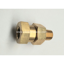 "Pressure Washer Hose 3/8"" Brass Swivel Coupler 4000 psi"