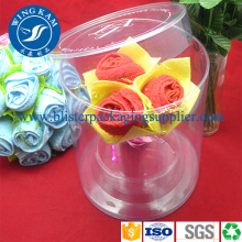 Factory Price for China Round Plastic Cylinder Tube Packaging supplier See Through Cylinder Packaging Container Box for Fake Rose export to Burundi Supplier