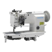 High Speed Double Needle Feed Sewing Machine with Split Needle Bar