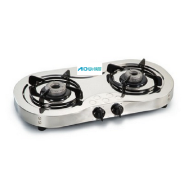 2 Burners Stainless Steel Cooktop