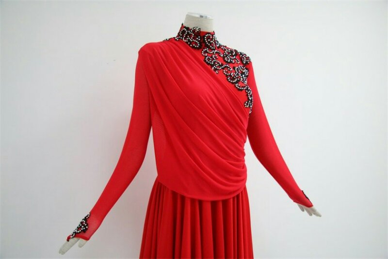 Red Latin Skirts Ballroom
