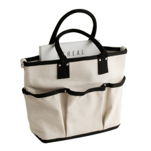 Custom Capacity Women Canvas White Black Tote Bag