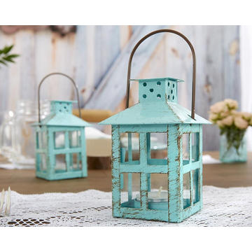 Charming blue color metal Vintage Lantern