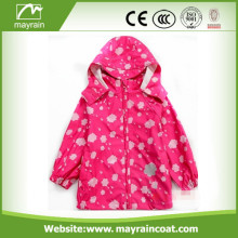 Pink Kids PU Raincoat