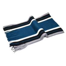 Vertical Stripes Men Acrylic Knitting Scarf