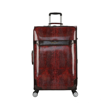 Imitated snake skin luggage