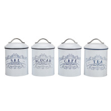 Vintage white farmhouse canister set
