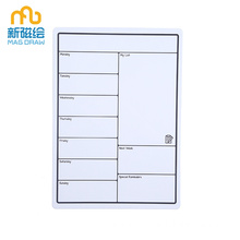 Magnetic Week Menu Planner Bureau ho an'ny Fridge