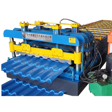 Bamboo style Glazed roof tile roll forming machine