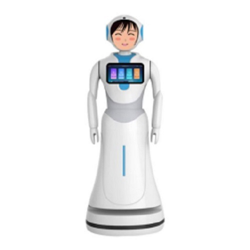 Interactive Talking Robots with People for Bank