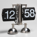Cute Robort-shape Flip Clock With 2 Pedestals