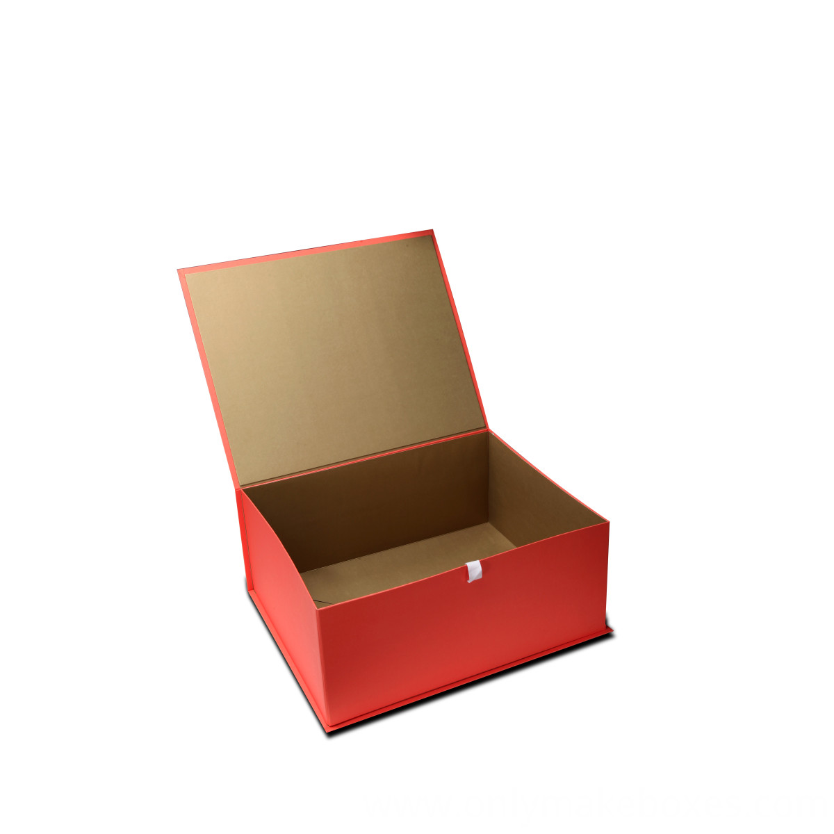 Collapsible Box with side way folding and ribbon closure