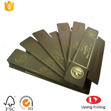flat foldable sunglass box with gold stamping