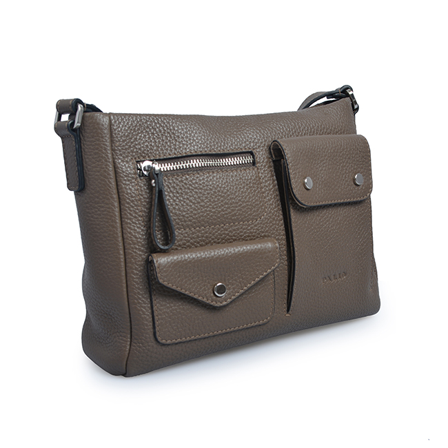 Multiple function leather crossbody bag women