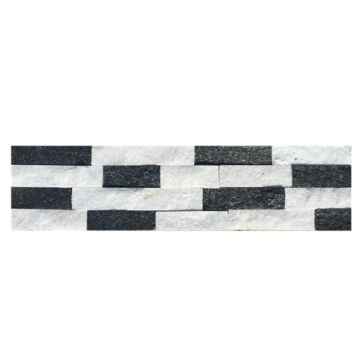 Colorful Black&White Quartz Natural Stone Cladding