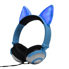 Cosplay Fox Ear Wired Headphones Light up Headsets
