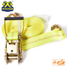 Polyester Customized Ratchet Tie Down Strap With Hooks