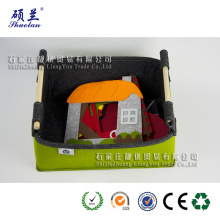 Customized for China Felt Storage Basket,Household Felt Storage Basket,Foldable Felt Storage Basket,Mini Felt Storage Basket Manufacturer and Supplier Wholesale good quality felt storage organizer bag supply to United States Wholesale