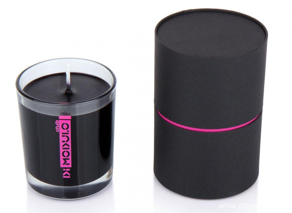 Plain Black Unprinted Candle Cylinder Container