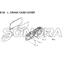 E-08 L. CRANK CASE COVER  JET 14 XS175T-2 For SYM Spare Part Top Quality