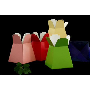 Kraft corrugated flower boxes