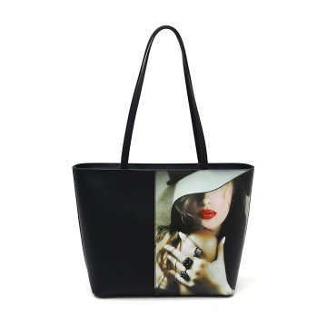 Vegan Black Long Strap Shoulder Handbags