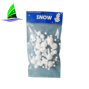 white snowball artificial Christmas tree snow