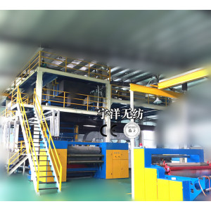Single beam non woven machine