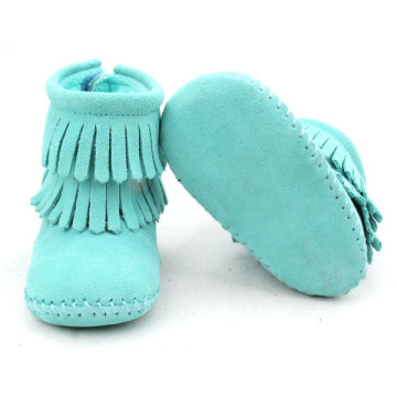 Colorful Handmade Genuine Leather Baby Fringe Boots