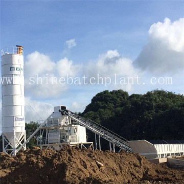 75 Wet Mobile Concrete Mixer Plant