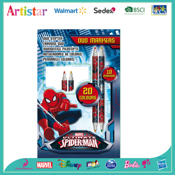 Spiderman double side markers box