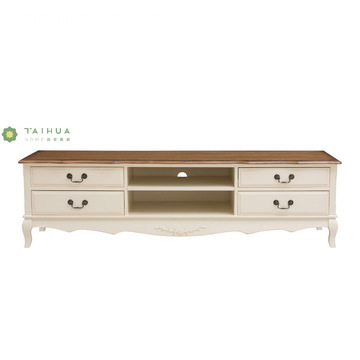 Apat na drawer Solid Wood TV Stand