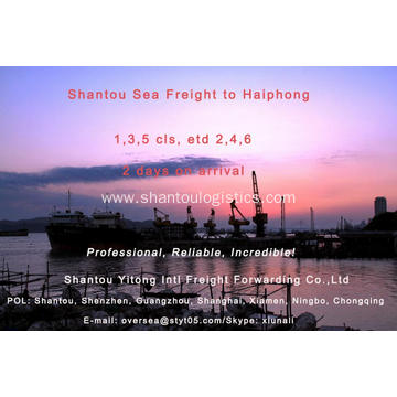 Shantou Sea Freight to Haiphong