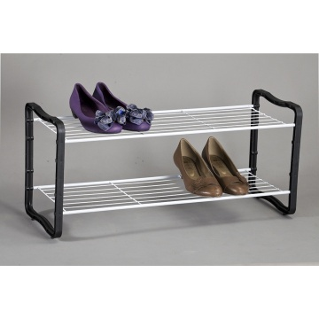 2 Tier Shoe Rack With Plastic Leg