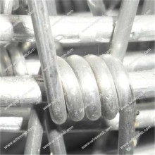 Aluminum-clad steel barbed wire