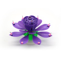Double Layer Rotatory Lotus Musical Birthday Candle