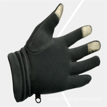Customized for China Half Finger Gloves,Cotton Half Finger Gloves,Fingerless Cotton Gloves Manufacturer and Supplier Wholesale Black Fleece Gloves With Embroidery supply to Botswana Exporter
