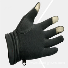 Wholesale Black Fleece Gloves With Embroidery