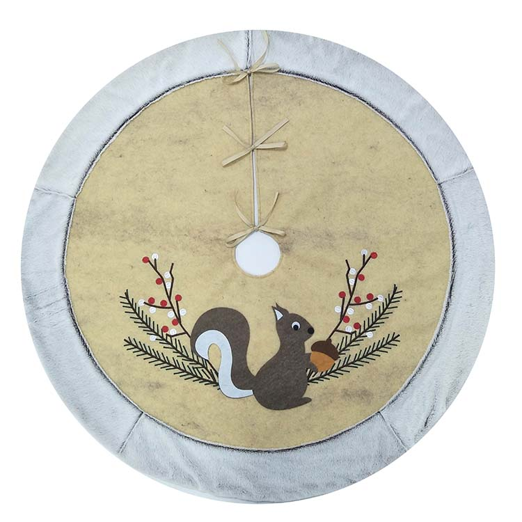 Squirrel Christmas Tree Skirt