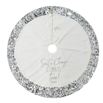 White Christmas tree skirt for christmas party
