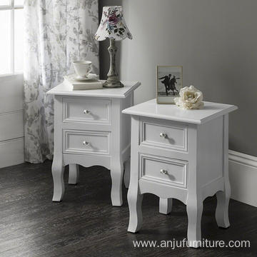 Bedside Tables Nightstands Wood White Bedside Tables Nightstands,Fully Assembled,33cm*30cm*62cm,Set of 2