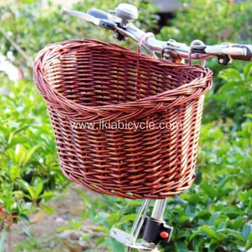 Hand Woven Plastic Colorful Children Bicycle Basket