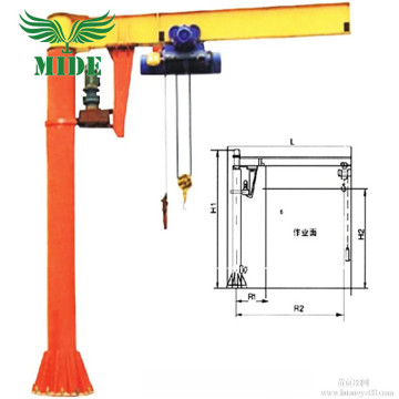 360 Degree Rotation Column Jib Crane