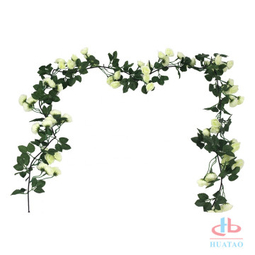 Artificial garden fence hanging plants flower rose