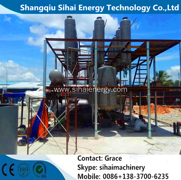 Black Tire Oil Distillation Plant