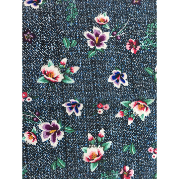 Texture Flower Rayon Challis 30S Printing Woven Fabric