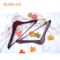 EISHO Natural Finish Durable Wooden Suit Hangers