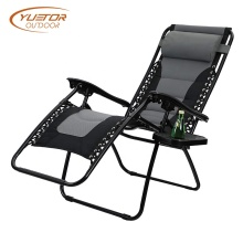 Patio Adjustable Reclining Padded CAMPING Lounge Chair