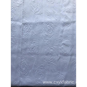 polyester 3d emboss fabric rose design