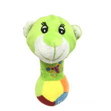 Top Paw Plush Green Squeak Bear Toy